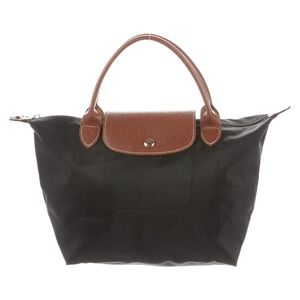 Longchamp Small Le Pliage Tote Black Nylon EUC